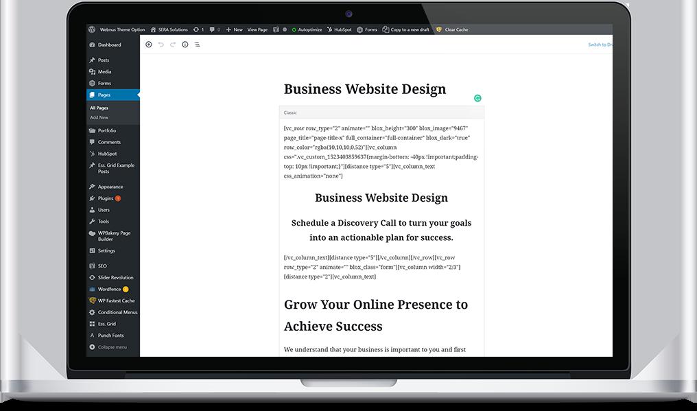 wordpress management and training